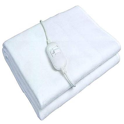 Ardes FC-AR4U80 Calentador de cama eléctrico 60W Blanco Poliéster - Manta eléctrica (150 mm, 80 mm, Poliéster): Amazon.es: Salud y cuidado personal