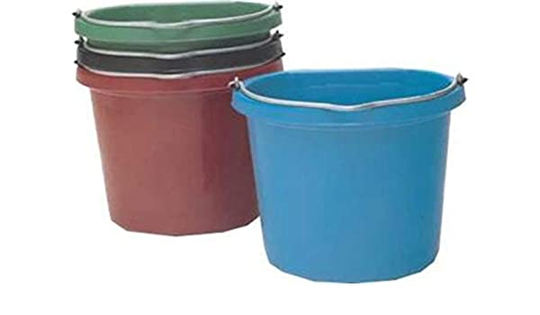 Fortiflex Flat Back Feed Bucket for Dogs//Cats and Small Animals 20-Quart Green
