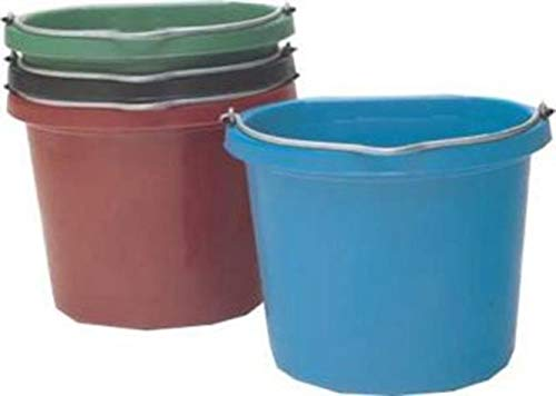 Fortiflex Flat Back Feed Bucket for Dogs/Cats and Small Animals, 20-Quart, Blue