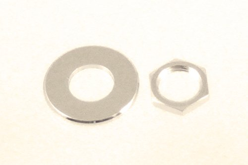 Allparts AP-6691-001 Nickel Nuts and Washers for Schaller Straplock
