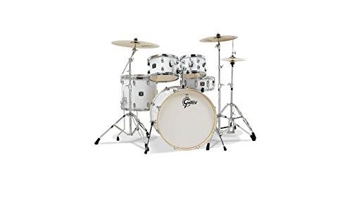 [Gretsch Drums Energy GEX-E825PK-WH 5-Piece Drum Set, White] (Gretsch Bass Bass Drum)