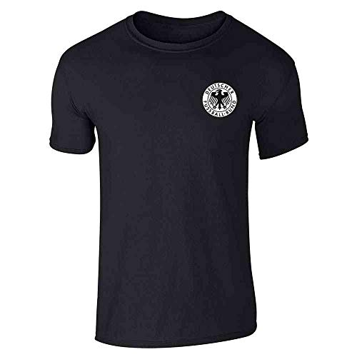 Germany Soccer Futbol Retro Vintage National Team Black L Short Sleeve ()