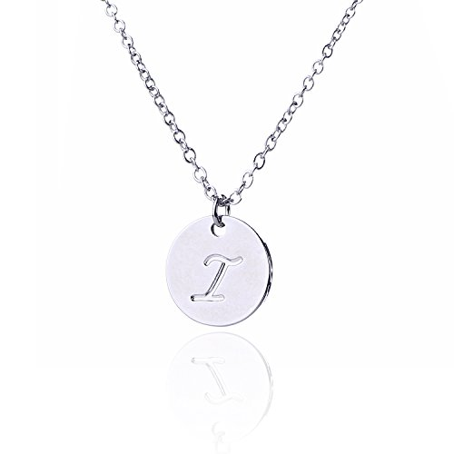 (AOLO Mother's Day Necklace BFF Disc Initial Necklace I)
