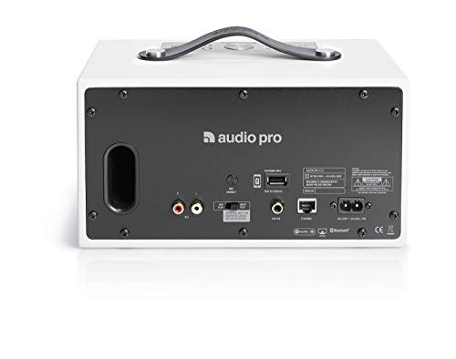Audio Pro Addon C5 Blanco Altavoz - Altavoces (Inalámbrico y alámbrico, Bluetooth/RCA/3.5mm, 50-20000 Hz, Blanco)
