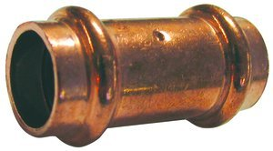 PC600-DS 1/2 inch P x P Wrot Copper Press Coupling, Pack of 10