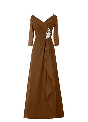 Womens the Bride Long Appliques Bridal Evening of Brown Annies Formal Mother Dresses gwBaTFRqx
