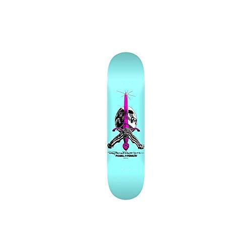 Blue Skull Skateboard - Powell-Peralta Skull & Sword Pastel Blue Skateboard Deck