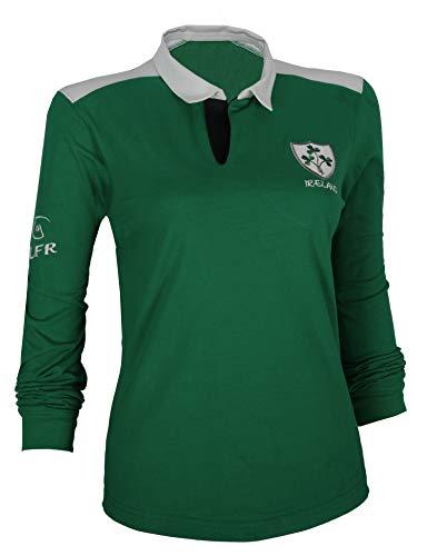 Malham Ladies Cotton Rugby Shirt (8-10) Dark Green ()