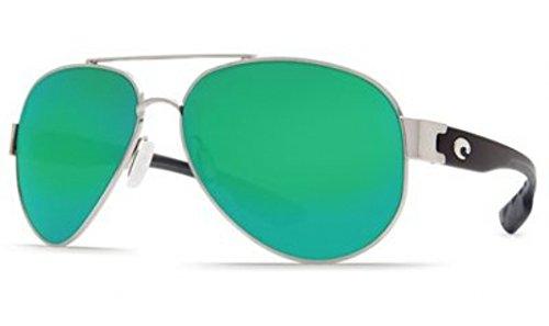 Costa Del Mar South Pt. 580G South Pt., Palladium Green Mirror, Green Mirror
