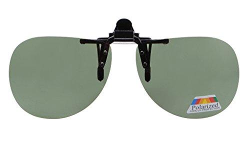 Aviator Clip - Eyekepper Pilot Style Flip up Polarized Clip-on Sunglasses G15