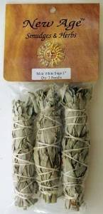 5 X White Sage Smudge Stick 3-Pack