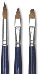 Escoda Optimo 2913 Oil & Acrylic Kolinsky Sable Paint Brush Bright; Size 8