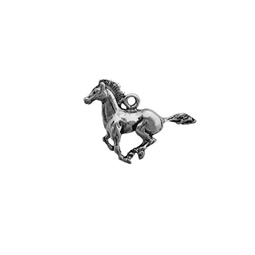 Sterling Silver 3D Mustang Galloping Horse Charm Item #1835