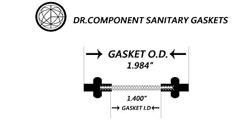 ,Bonded Type Screen 60 Mesh DR-COMPONENT 1 Sanitary Tri-Clamp Gaskets Pack of 2 Black EPDM