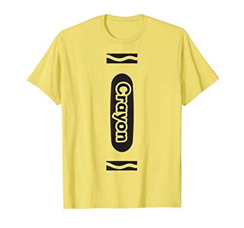 Yellow Crayon Tshirt Halloween Group Costume Easy DIY Funny -