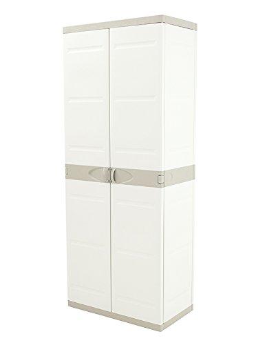 Plastiken (HLKRQ) Titanium Armarios, Beige, 70x44x176 cm