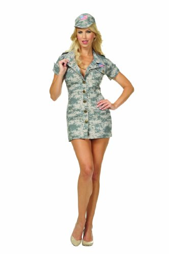 RG Costumes Plus-Size Desert Dolly, Tan Camouflage, X-Large (12-14) ()