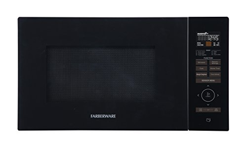 Farberware Gourmet FMO11AESBKA 1.1 Cu. Ft. 1100-Watt Microwave Oven with Smart Sensor, Inverter Technology, and Sensor Touch Control Panel, ECO Mode and LED Lighting, Black