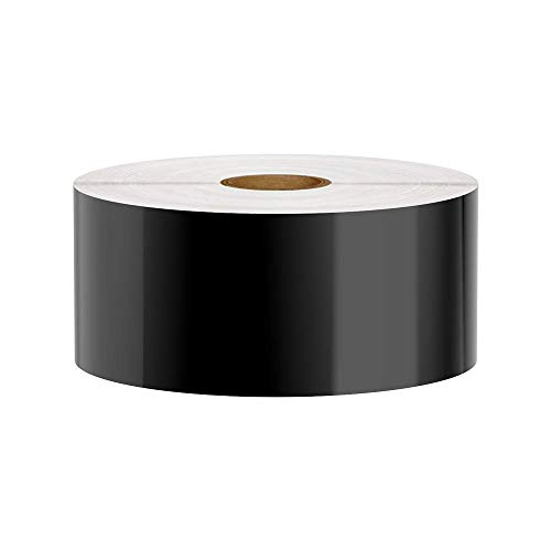 Premium Vinyl Label Tape for DuraLabel, LabelTac, SafetyPro and Others, Black, 2