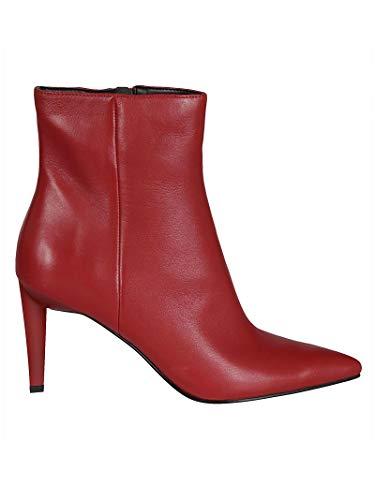 Kendall Rojo Cuero Kkzoe07red Botines Kylie Mujer wYYPqx0T