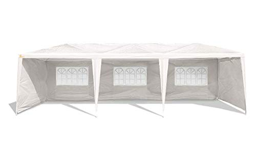 Palm Springs Outdoor 10 x 30 Wedding Party Tent Canopy with 5 Sidewalls ()