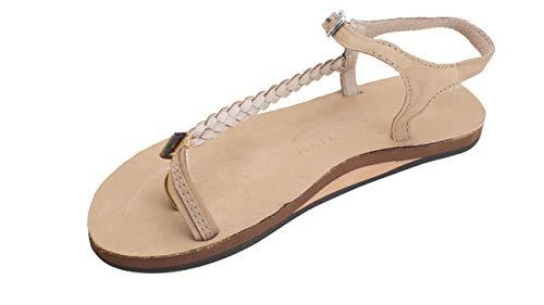 (Rainbow Sandals Marley - Single Layer Sandal w/Toe Loop and Side Braid, Sierra Brown, Ladies 6 M US)