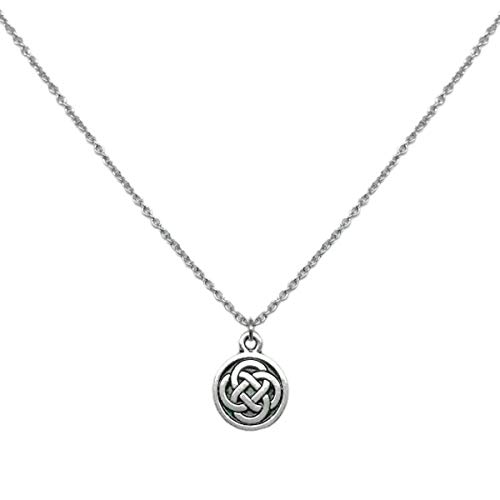 Loralyn Designs Celtic Knot Charm Necklace Stainless Steel Chain (20 Inch)