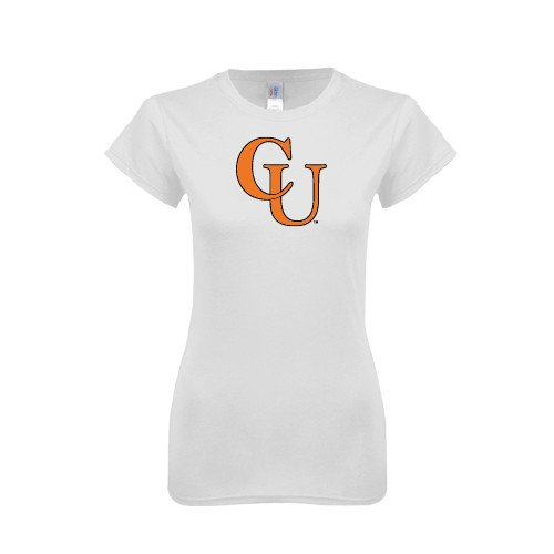 Campbell Next Level Ladies SoftStyle Junior Fitted White Tee 'CU'