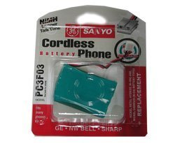 Sanyo Cordless Telephones - Sanyo Ges-Pc3F03 Rechargeable Cordless Phone Battery in Black