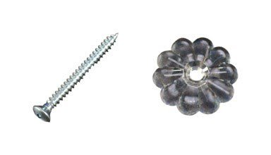(UNITED STATES HDW D-140B Us Hardware Rosette Button with Screw)