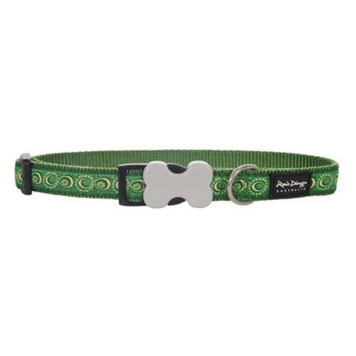 Red Dingo Cosmos Green XS Dog Collar