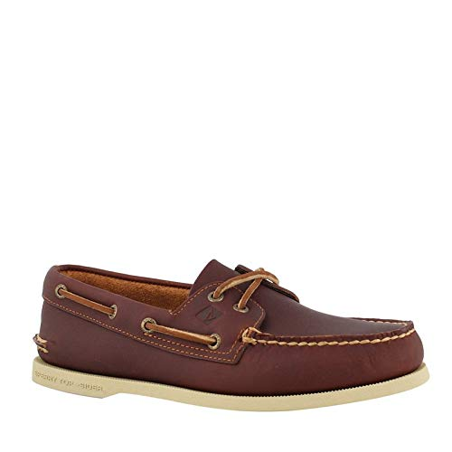 Sperry Mens A/O 2-Eye Boat Shoe, Tan Pullup, 13 by SPERRY