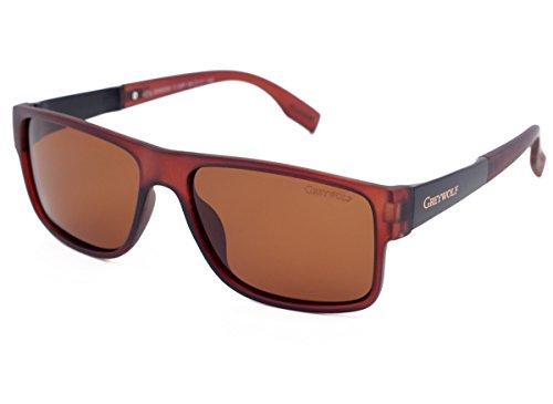 marrón Wolf de Marrón Gafas Grey para hombre M sol SWzx16ndq