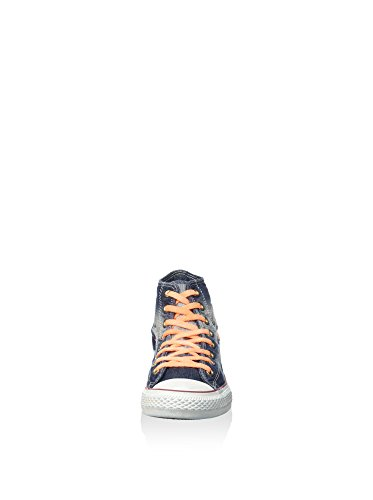 Converse Sneaker Alta All Star Hi Denim Blu Navy/Arancione EU 37 (US 4.5)