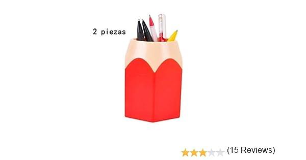 Portalápices, Bote para lápices Saisiyiky (Rojo): Amazon.es: Bricolaje y herramientas