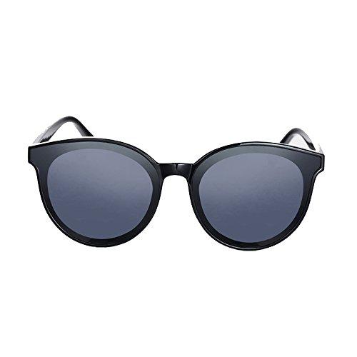 Caja Mujer Gafas para Redondas Negro de ZZ Negra Coreanas Sol Cenizas wTfganz4
