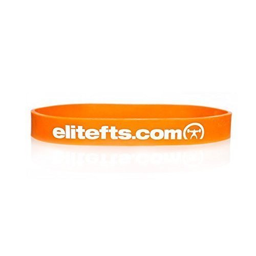 EliteFTS Pro Short Light Resistance Band - Orange - SOLD AS PAIR