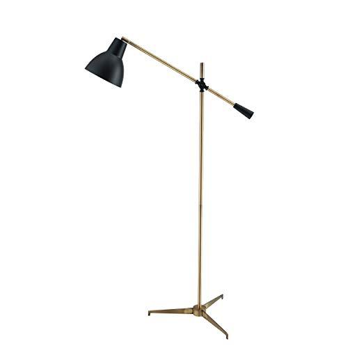 - Southern Enterprises AMZ0118TL Kenzie Floor Lamp, Black/Brushed Brass