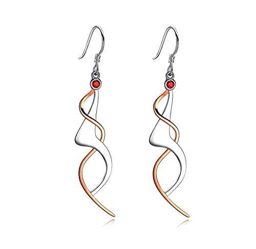 (POLITENY Dancing Girls Filigree Fashion 925 Sterling Silver Dangle Earrings for Women)
