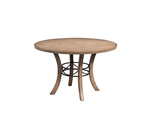 Hillsdale Furniture 4670DTBW Charleston Round Wood Table with Metal Ring, Brown