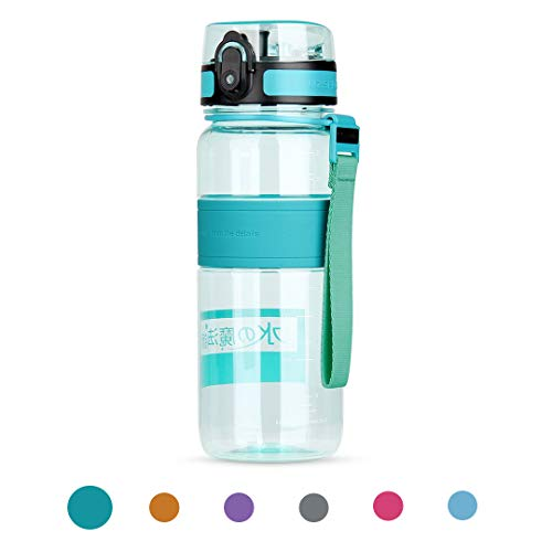 Waterfly Sports Water Bottle 500ml/650ml/1000ml Leak Proof w/One Click Open BPA Free & Eco-Friendly Tritan Water Bottle for Hiking Camping Travelling Cycling