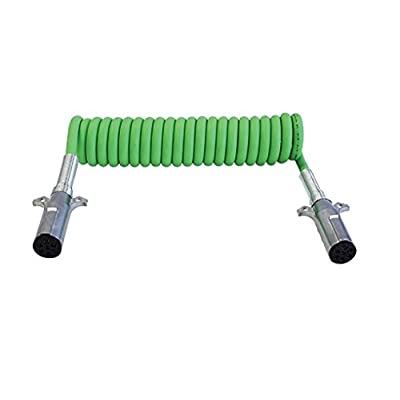 "Tectran 7ATG522MV Powercoil (-ABS Duty, Green, 15' Length, 12""/12"" 4/12"" 2/10"" 1/8"" Lead Length, 2 with WeatherSeal): Automotive"