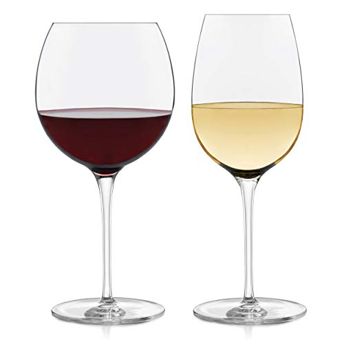 Libbey Signature Kentfield 12-Piece Wine Glass Party Set for Red and White Wines