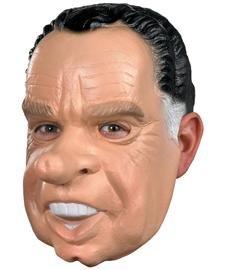 [Nixon Costume Mask,Tan/black/white,One Size] (Vinyl Halloween Costumes Mask)