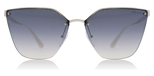(Prada Women's Cinema Evolution Sunglasses, Silver/Blue Silver, One Size)