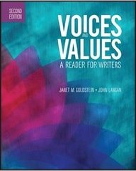 Voices+Values:Reader For Writers