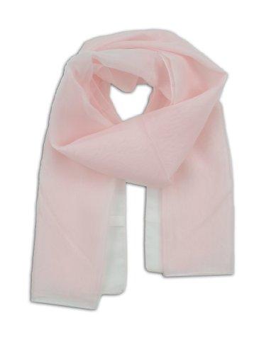 LJL Design Chiffon Scarf Oblong (Light Pink)