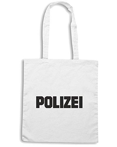 T-Shirtshock - Bolsa para la compra TM0547 polizei Blanco