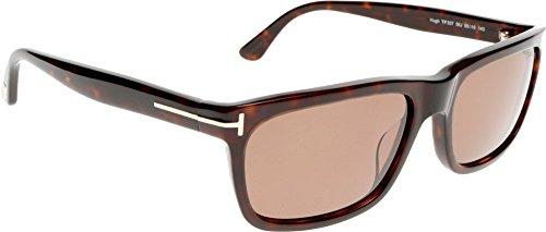 Tom Ford 337 56J Tortoise Hugh Rectangle Sunglasses Lens Category 3 Lens ()