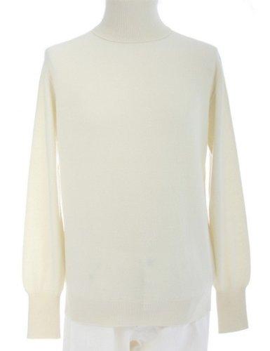 4 Ply Shephe Men's Turtleneck Cashmere Sweater White Large by Shephe